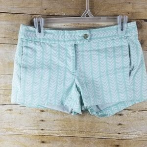J Crew Chino Shorts Size 0 Mint White Green